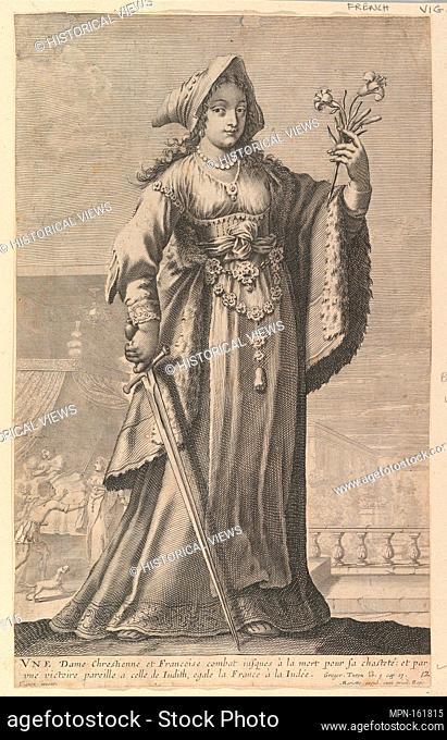 A French Christian Woman (Une Dame Chrétienne et Française). Series/Portfolio: La Galerie des Femmes fortes; Artist: Gilles Rousselet (French