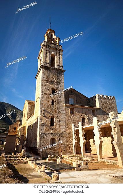 The ruins around the Cistercian Monastery of Saint Mary of Valldigna in Simat Spain
