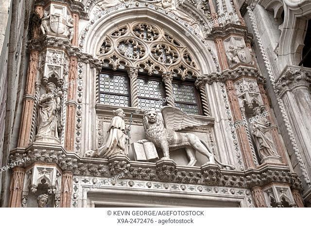 Facade of Palazzo Ducale; Venice; Italy