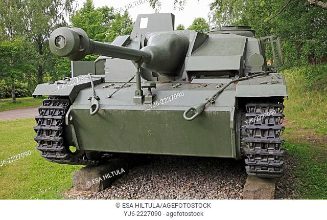 STU-40 tank on display in Lappeenranta Finland