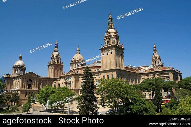 Palau Nacional am Montjuic in Barcelona
