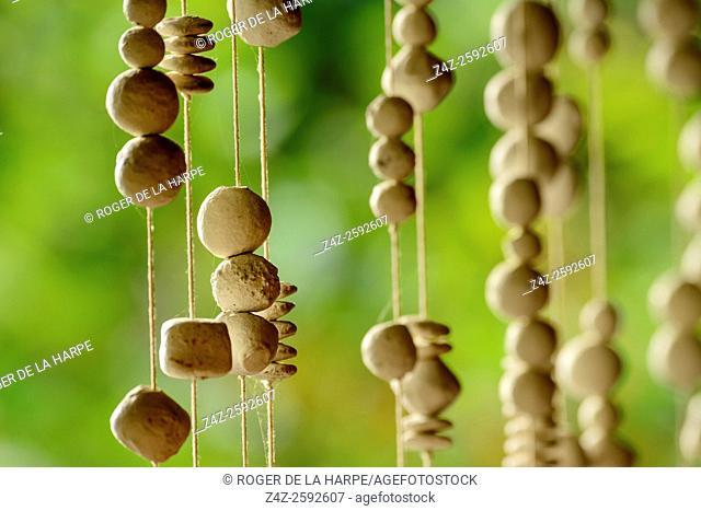 Hanging beads used as decoration. Tongabezi Lodge. Victoria Falls. Livingstone. Zambia