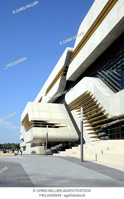 Entrance to the Pierrevives Sports Centre by Zaha Hadid Montpellier France