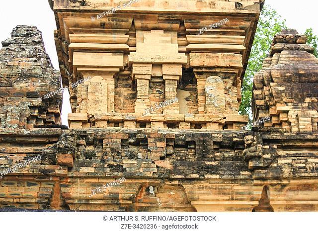 Architectural detail of Po Nagar Cham Towers. Nha Trang, Khanh Hoa Province, Vietnam, Southeast Asia