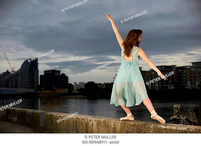 Ballet dancer on wall