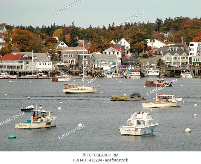 Booth Bay Harbor, ME, Maine, fishing village, boats
