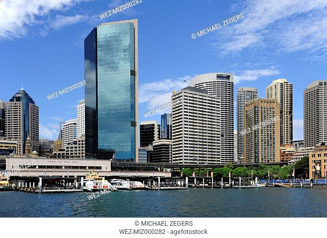 Australia, New South Wales, Sydney, View of Circular Quay at Sydney Cove