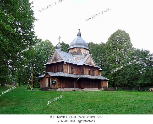 Greek-orthodox church (Cerkiew) in Hoszow, Bieszczady, National Park, southeast Poland Europe