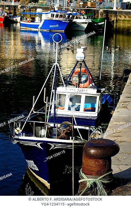 Fishing boats in the port of Ribadesella, Asturias