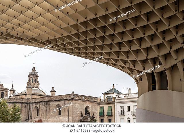 Metropol Parasol or Setas de la Encarnación designed by Jürgen Mayer,Sevilla,Andalucia,Spain