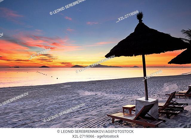 Cua Dai Beach at sunrise. Hoi An, Quang Nam Province, Vietnam