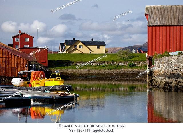 Andenes harbour, Andøya island, Vesterålen archipelago, Troms Nordland county, Norway