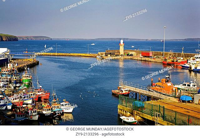 Fishing Harbour, Dunmore East, County Waterford, Ireland
