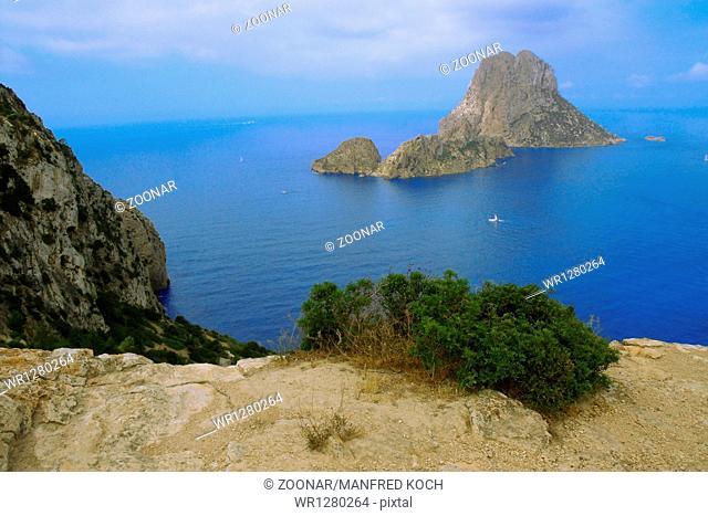 View of the gigantic isle of Es Vedra