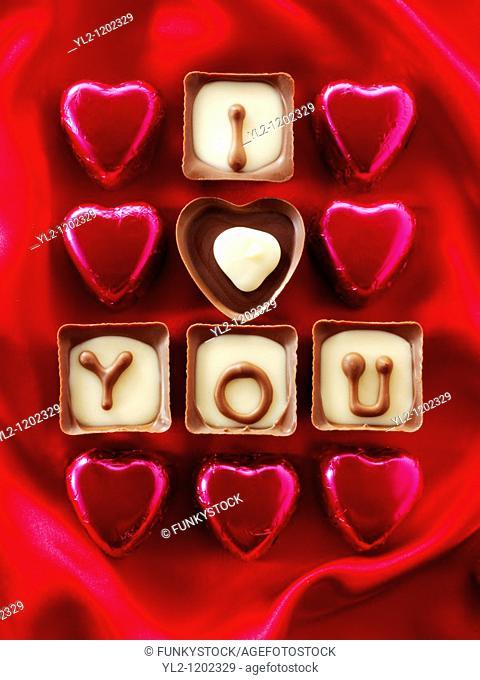 ' I love you ' chocolates
