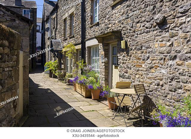 Salt Pie Lane in the village of Kirkby Lonsdale in the Yorkshire Dales National Park, Cumbria, England