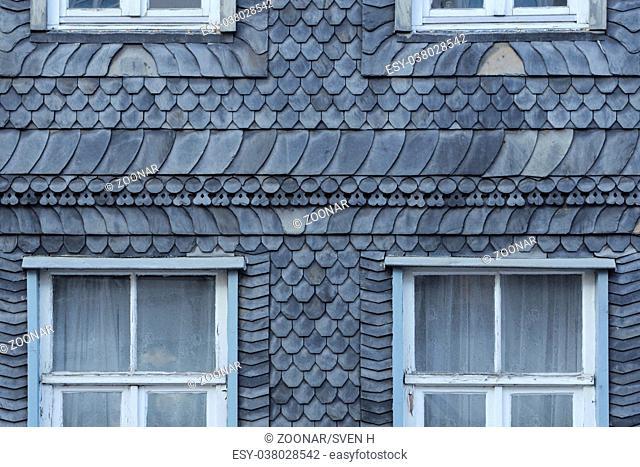 Goslar - Slate-faced old town building, Germany