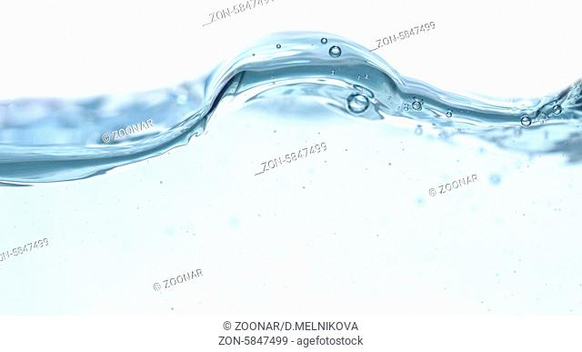 water wave isolated on white