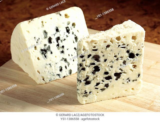 French Cheese Called Roquefort, Cheese made with Ewe's Milk