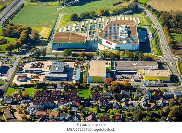 Furniture Discounter Finke, Zeppelin Baumaschinen GmbH - Forklift Trucks, Rullko SB Wholesale Market, Rhynern, Hamm, Ruhr Area, North Rhine-Westphalia, Germany