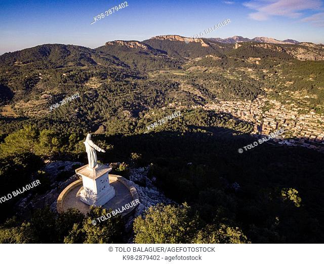 Cor de Jesús, Esporles, sierra de Tramuntana, Mallorca, balearic islands, spain, europe