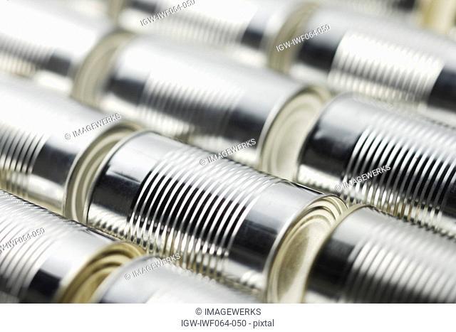 Tin cans, close-up