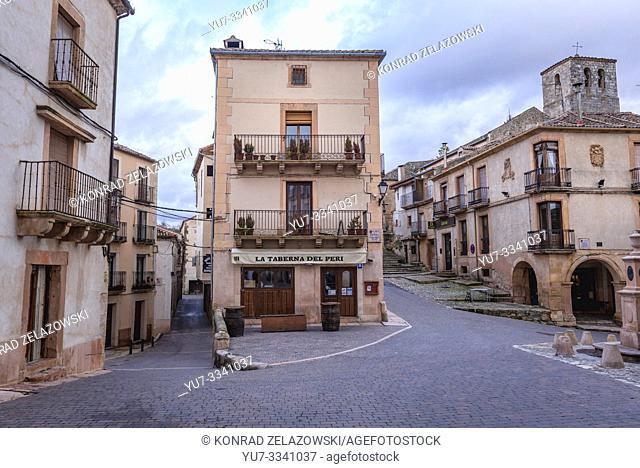 La Taberna del Peri restaurant in Sepulveda town in Province of Segovia, Castile and Leon autonomous community in Spain