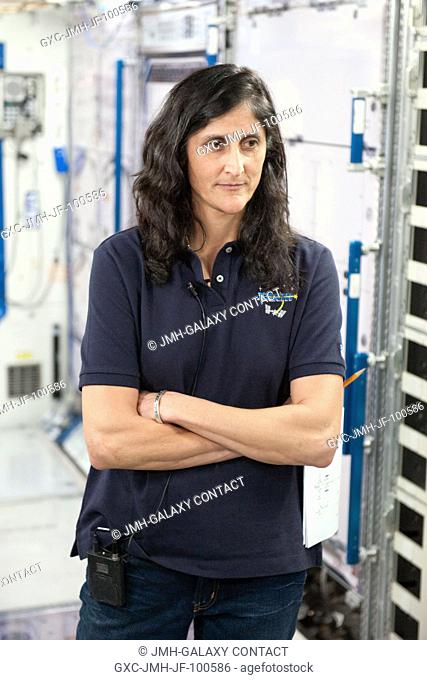 NASA astronaut Sunita Williams, Expedition 32 flight engineer and Expedition 33 commander, participates in an emergency scenario training session in an...