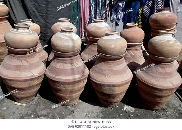 Handcrafted terracotta pots and containers, Hyderabad, Pakistan