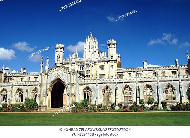 New Court of St John's College in Cambridge, UK