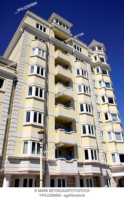 Devonshire Mansions flats on the Grand Parade seafront Eastbourne East Sussex England