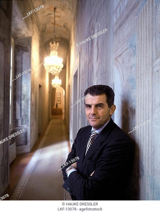 Feruccio Ferragamo, son of Salvatore, CEO, internat. fashion label, Palazzo Spini, Florence, Italy