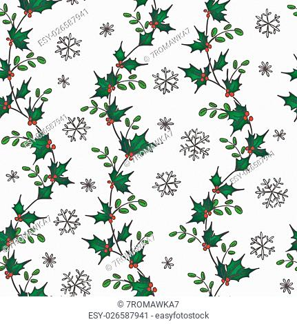 Seamless vector pattern for your Christmas and New Year design