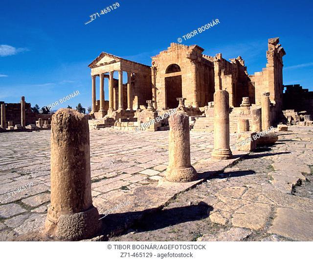 Roman ruins, Forum. Sbeitla. Tunisia