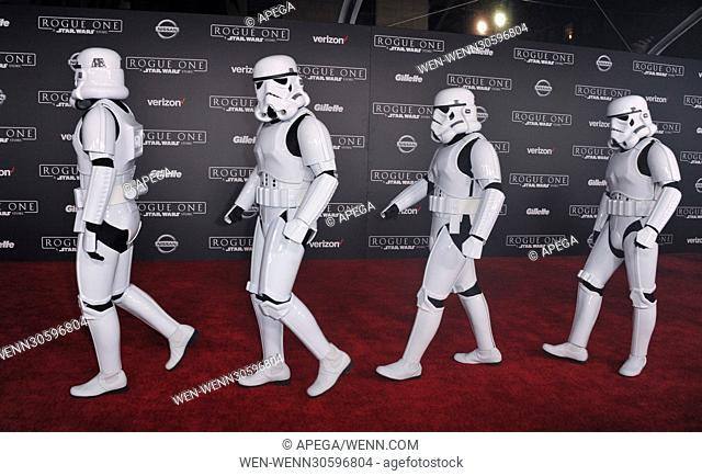 World premiere of 'Rogue One: A Star Wars Story' held at Pantages Theatre - Arrivals Featuring: Atmosphere Where: Los Angeles, California