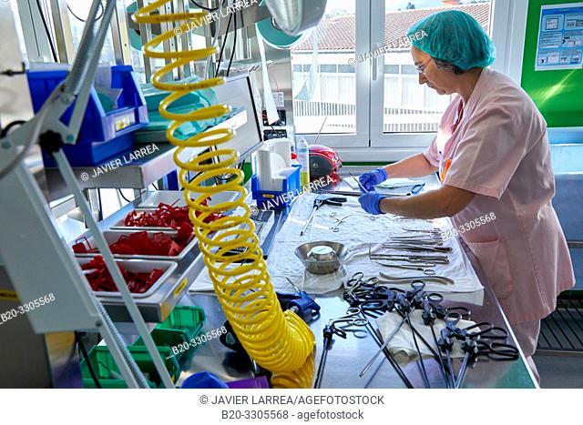 Surgical material, Sterilization, Autoclave Cleaning, Hospital Donostia, San Sebastian, Gipuzkoa, Basque Country, Spain