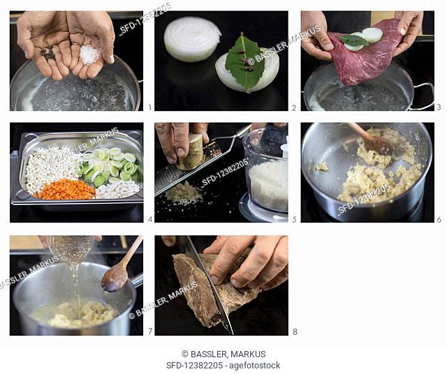 Preparing prime boiled beef (German Voice Over)