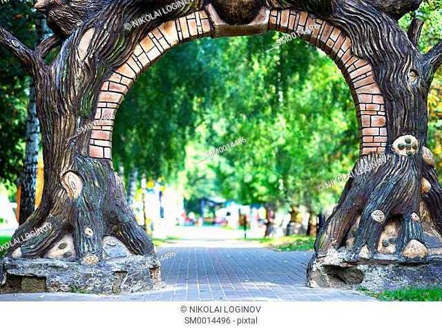 Park gate background hd