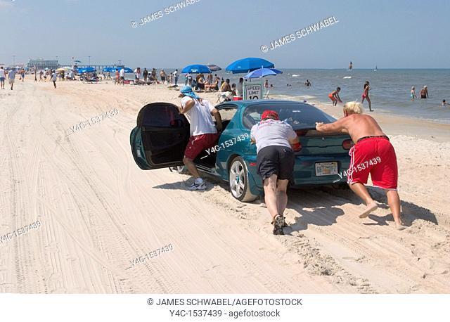 Driving on Daytona Beach, Florida, USA