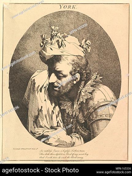 Duke of York (Twelve Characters from Shakespeare). Artist: John Hamilton Mortimer (British, Eastbourne 1740-1779 London); Subject: William Shakespeare (British