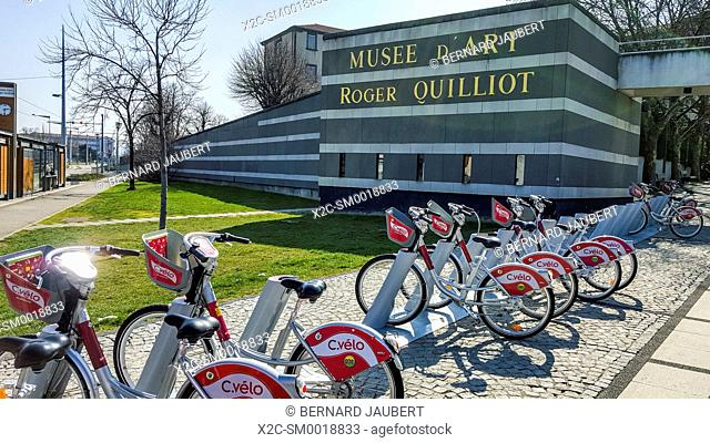 Museum Roger Quilliot and C Velo, bicycles rental service, Clermont Ferrand, Auvergne, France