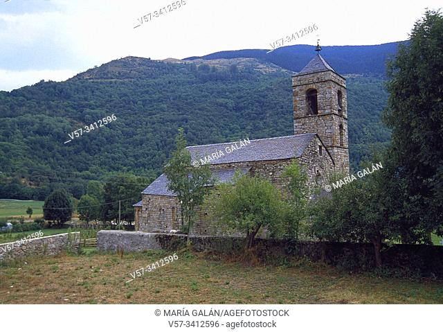 Sant Feliu church. Barruera, Vall de Boi, Lerida province, Catalonia, Spain