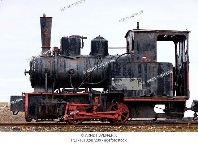 Old mining train at Ny Alesund / Ny-Ålesund, Svalbard / Spitsbergen