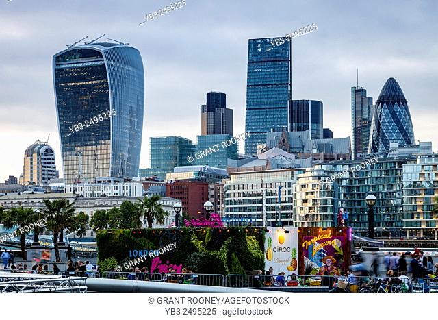 The City of London Skyline From More London Riverside, London, England