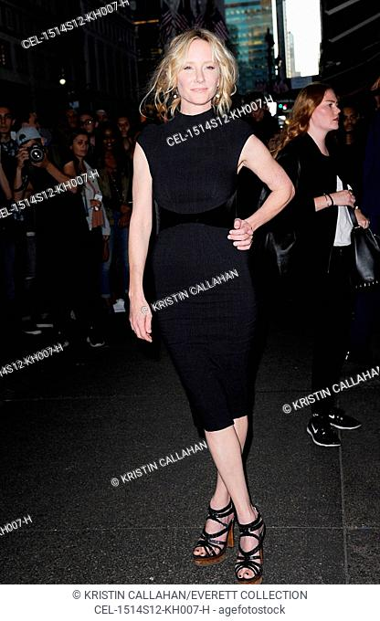 Anne Heche at arrivals for Zac Posen Spring & Summer 2016 Fashion Collection Presentation, Vanderbilt Hall at Grand Central Terminal, New York, NY September 14