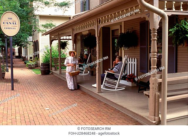 museum, Coshocton, OH, Ohio, Historic Roscoe Village, an 1830 Ohio and Erie Canal Town