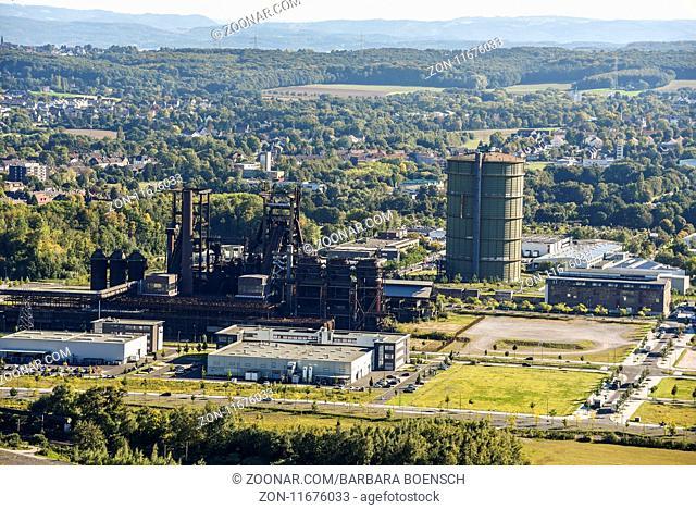 Phoenix West, industrial site, city view, Dortmund, North Rhine-Westphalia, Germany, Europe, Phoenix West, Technologiepark, Stadtansicht, Dortmund