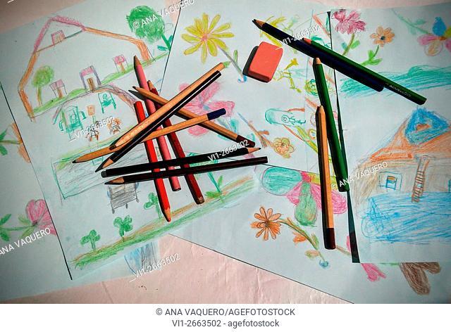 Pencil drawings, Extremadura, Spain