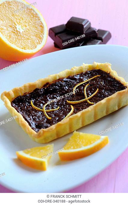 Chocolate and orange pie