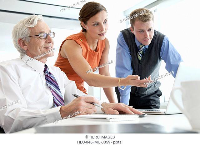 business coworkers meeting